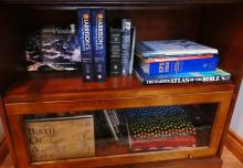 CONTENTS OF DEN CABINETS
