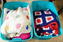 TWO ROTARY TELEPHONES