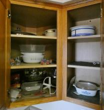 CONTENTS OF KITCHEN CUPBOARDS