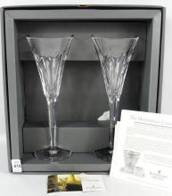 "WATERFORD CRYSTAL ""MILLENNIUM COLLECTION"" FLUTES"