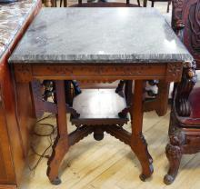 MARBLE TOP PARLOUR TABLE