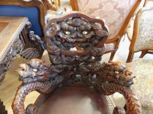 CARVED ASIAN ARMCHAIR