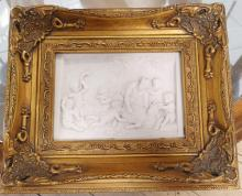PAIR OF FRAMED WALL PLAQUES
