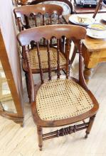 SET OF GUNSTOCK CHAIRS