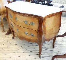 MARBLE TOP FRENCH CONSOLE