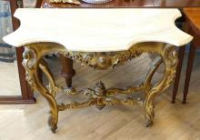 GILTWOOD CONSOLE TABLE