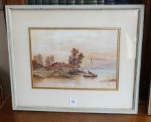 TWO FRAMED WATERCOLOURS