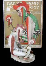 LLADRO COURT JESTER AND MAGAZINE