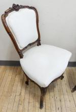 PAIR OF FRENCH PARLOUR CHAIRS