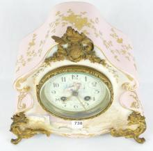 FRENCH PORCELAIN MANTEL CLOCK
