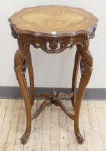 INLAID LAMP TABLE