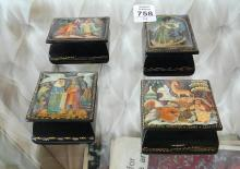 RUSSIAN LACQUER PILL BOXES