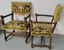 IMPORTANT PAIR OF CHAIRS