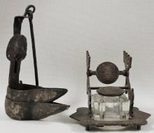 Inkwell and Oil Lamp